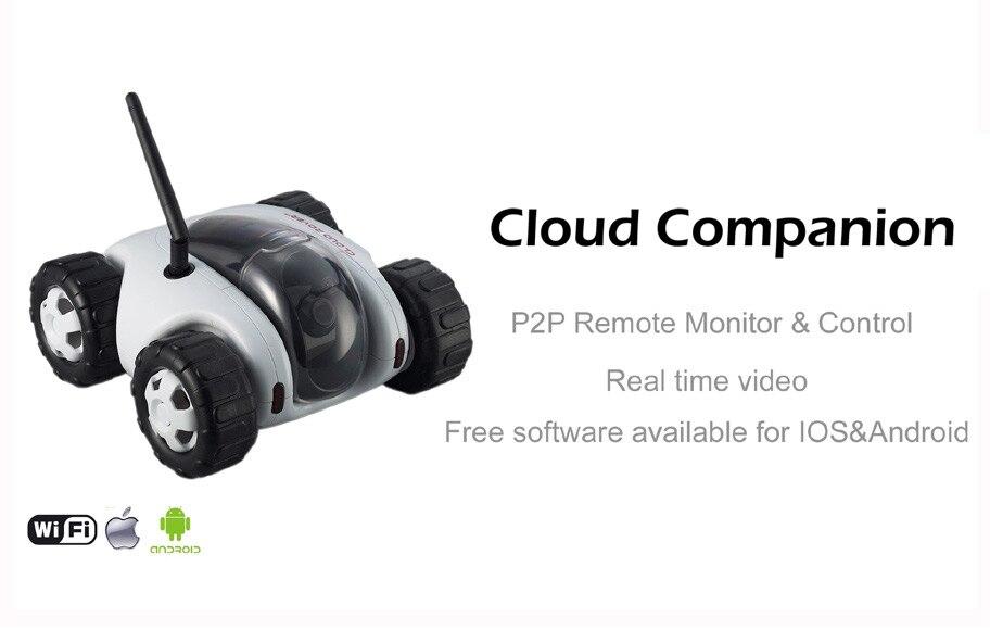 Cloud Companion Wi-Fi P2P remote Monitoring Smart 720 P HD video Night Vision rc car mobile Phone App remote control VR car
