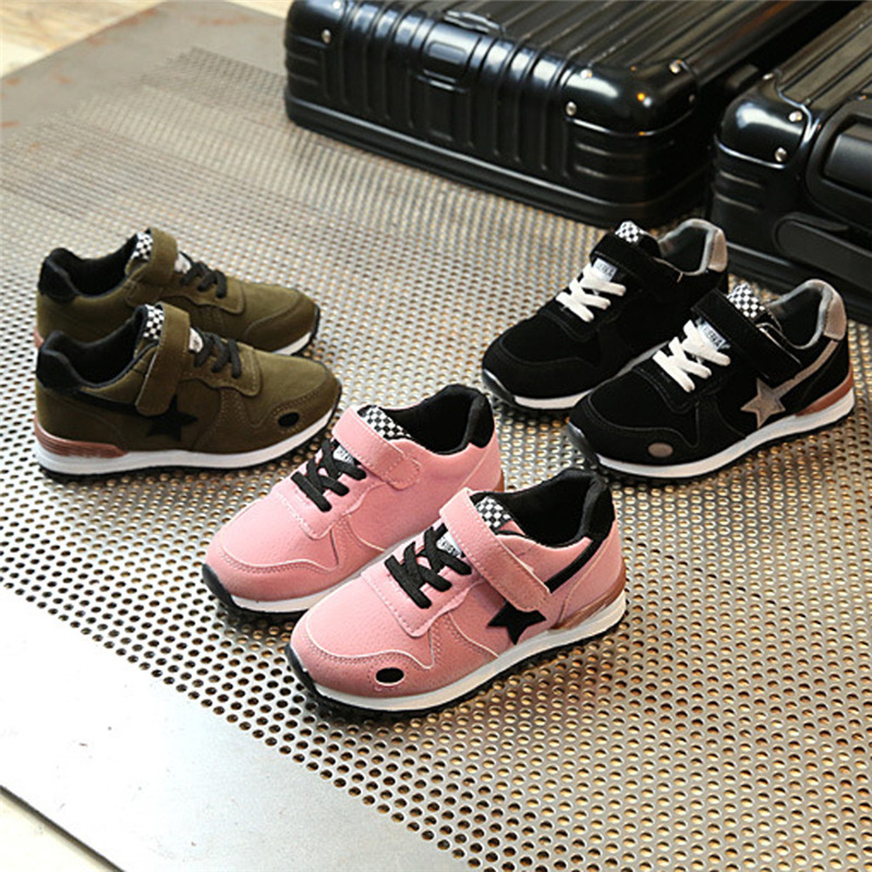 Toddler Kids Sports Running Baby Shoes Boys Girls Star Mesh Winter Shoes Sneakers T#