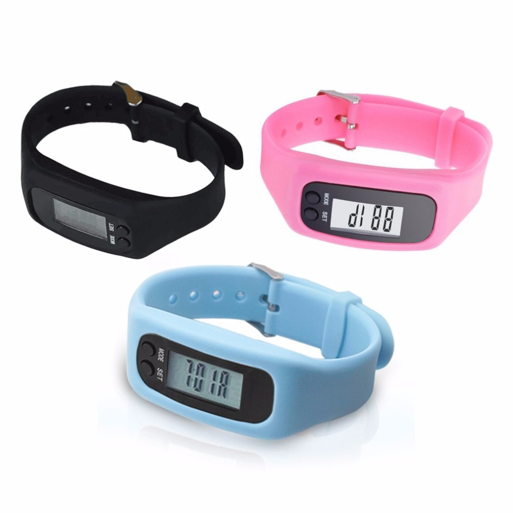LCD Smart Steps Counter Watch Pedometer Sports Monitor Running Exercising Step Counter Fitness Silicone New