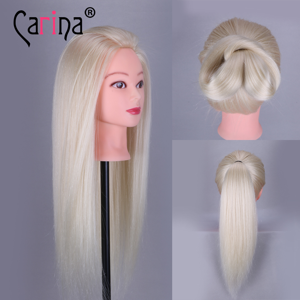 22 Training Head Cosmetology Mannequin Heads With Makeup Practice Dummy Real Hair
