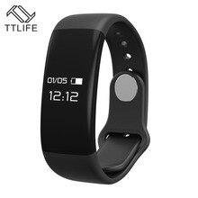 TTLIFE умный Браслет H30 bluetooth пульсометр Браслет фитнес-трекер часы для Android/IOS PK Mi band 2