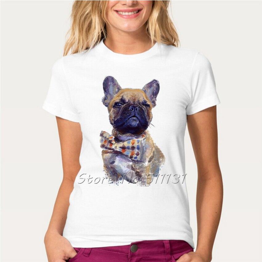 2017 fashion retro cute french bulldog t shirt summer for Cute summer t shirts