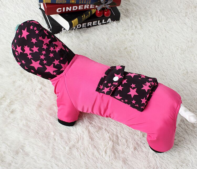 G26 Pet clothes dog warm cotton coat for 4 legs NEW arrival