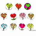 10PCS! Floating charms  Mixed Glass Cartoon Floating Charms for Floating lockets & Floating locket bracelet LSFC121*10