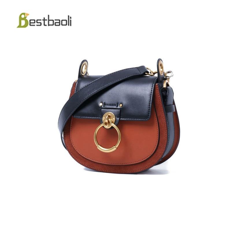 16fff77e88c Bestbaoli Fashion Female Handbags High Quality Cowhide Shoulder Women Bags  Designer Annular Metal Ring Ladies Crossbody Bag Tote-in Shoulder Bags from  ...