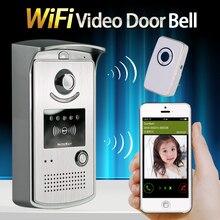 Teléfono Video Portero Timbre Con 720 P Cámara IP inalámbrica WIFI timbre de la puerta de La Visión Nocturna DEL IR de Detección de Movimiento de Alarma para IOS Android