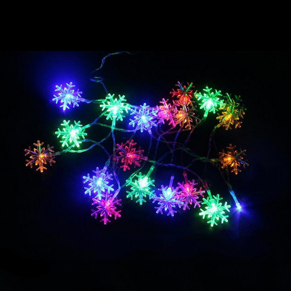 20 Led Snowflake Lamp Battery Operated 2 5 M Holiday Lighting Strings Wedding Garden Party Christmas New Year Decoration F In Diy Decorations From