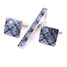 ef4171f61269 The design style of high quality men's clothing brand Cufflinks tie clip  golden clover Cufflinks tie clip, fashion, free deliver