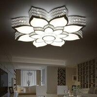 Современный светодио дный светодиодный потолочный светильник кристалл лотос креативный Железный белый/черный корпус потолочный светильн