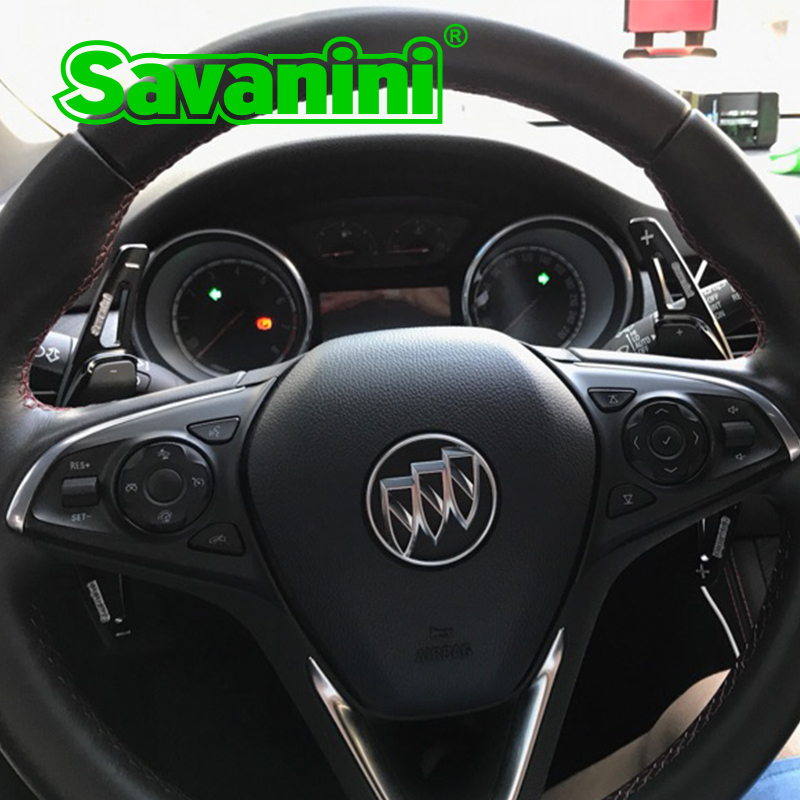 Savanini Alüminyum Direksiyon DSG Buick Regal GS ve Camaro Için Shift Paddle Shifter Uzatma (2011-2015) Oto Araba styling