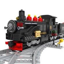 Ausini Building Block Train Set 586pcs Steam Train Educational Bricks Toy For Boy Gift 25812