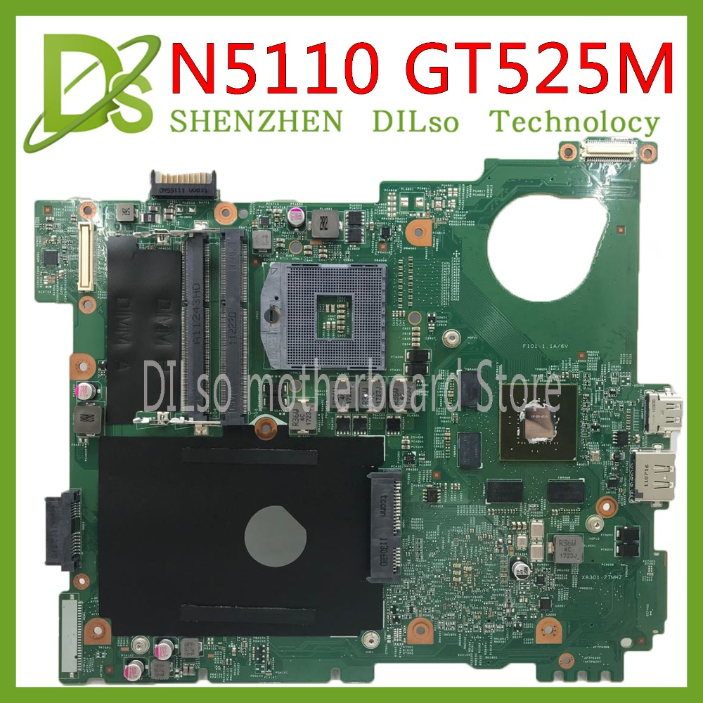 KEFU N5110 Motherboard For DELL Inspiron 15R N5510 CN-0J2WW8 0J2WW8 HM67 DDR3 GT525M 1GB Original Test Motherboard Original 100%