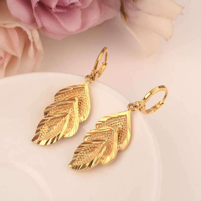 Gift for Her Statement Jewelry Statement Earring Leaf Drop Earring Gold Leaf Earring Gold Drop Earring