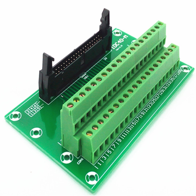 idc40 2x20 pins 0 1 male header breakout board terminal block rh aliexpress com
