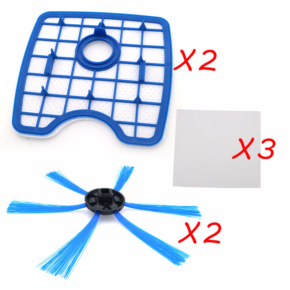 Free Shipping Vacuum Cleaner 2 filter screen+2round brush+3floorcloth for Philips Robot FC8820 FC8810 Sweeping robot accessories 2pcs vacuum cleaner parts replacement filter screen for philips robot fc8820 fc8810 hepa filter free shipping