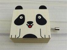New 2017 Cartoon Animal Mini Wooden Music Box Cat Dog Tiger Panda Toy for Kids Home Decoration Music box Retro Birthday Gift