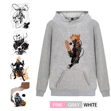 Marvel Avengers Ghost Rider Illustration Trendy College Men/women Hoodie Kangaroo Pocket Leisure Teen Jersey A193291