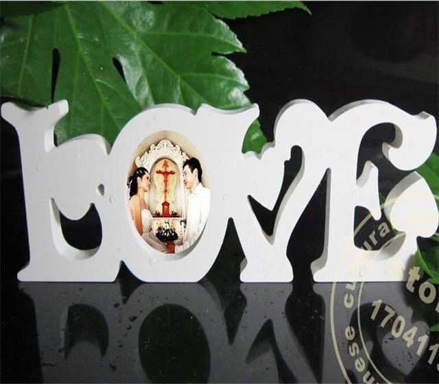 GUWX White letters DIY home furnishing handicraft picture frame ...