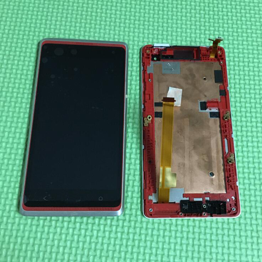 Black or Red Lcd screen Display + touch digitizer Assembly with FRAME For HTC Desire 600 Phone Parts бп atx 600 вт exegate atx xp600