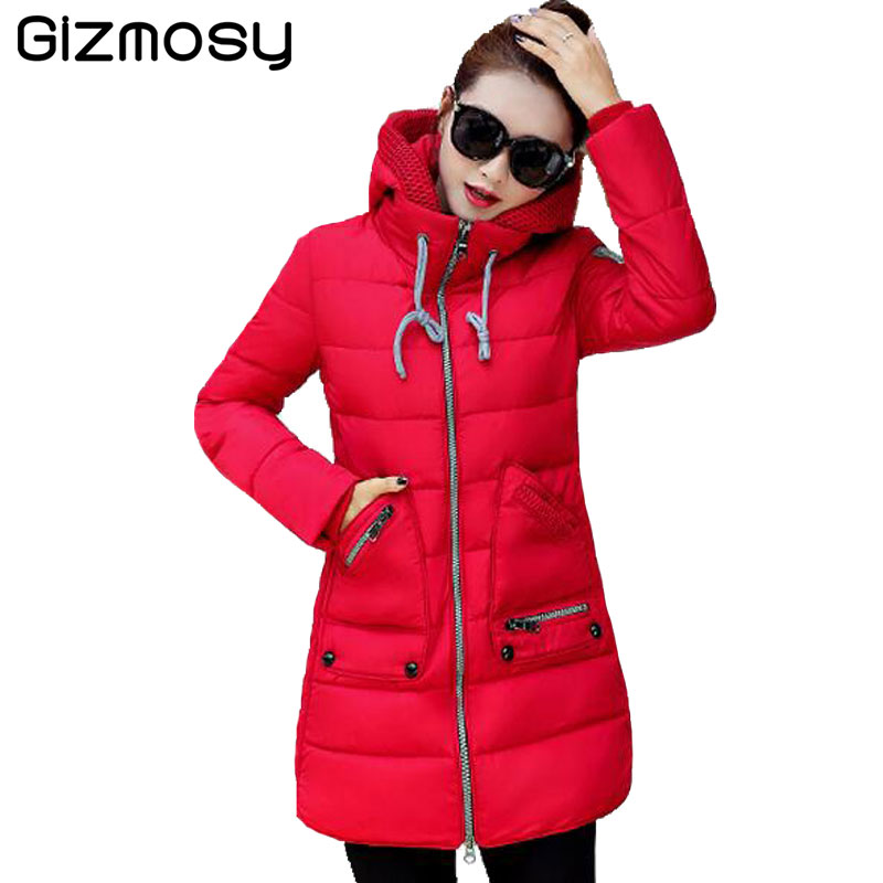 2017 New Plus Size Winter Jacket Women Warm Coat Hooded Parka Snow Wear 7XL Jaqueta Feminina Casacos De Inverno Feminino BN519