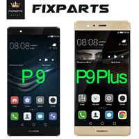 100 Originale Dello Schermo di Huawei P9 Display Lcd Touch Screen Digitizer Assembly Huawei P9 Più Display Sostituire P9 Più Lcd Eva l09 L19