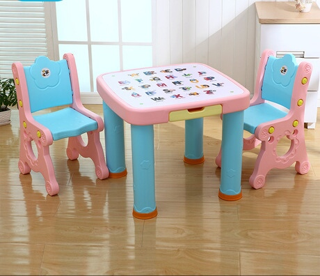 Children Furniture Sets One Desk+two Chairs Sets Plastic Kids Furniture  Sets Kids Chair And Study Table Sets Minimalist Quality In Children  Furniture Sets ...