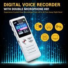 8 ГБ Цифровой диктофон с двойным микрофоном HD Запись Премиум металлический корпус микрофоном и диктофон USB MP3 бесплатная наушники