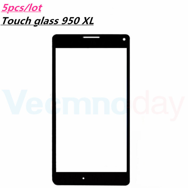 Vecmnoday 5Pcs/Lot Touch Screen Outer Panel Lens Repair Replacement Part For Nokia Lumia 950 XL 950XL Front Glass