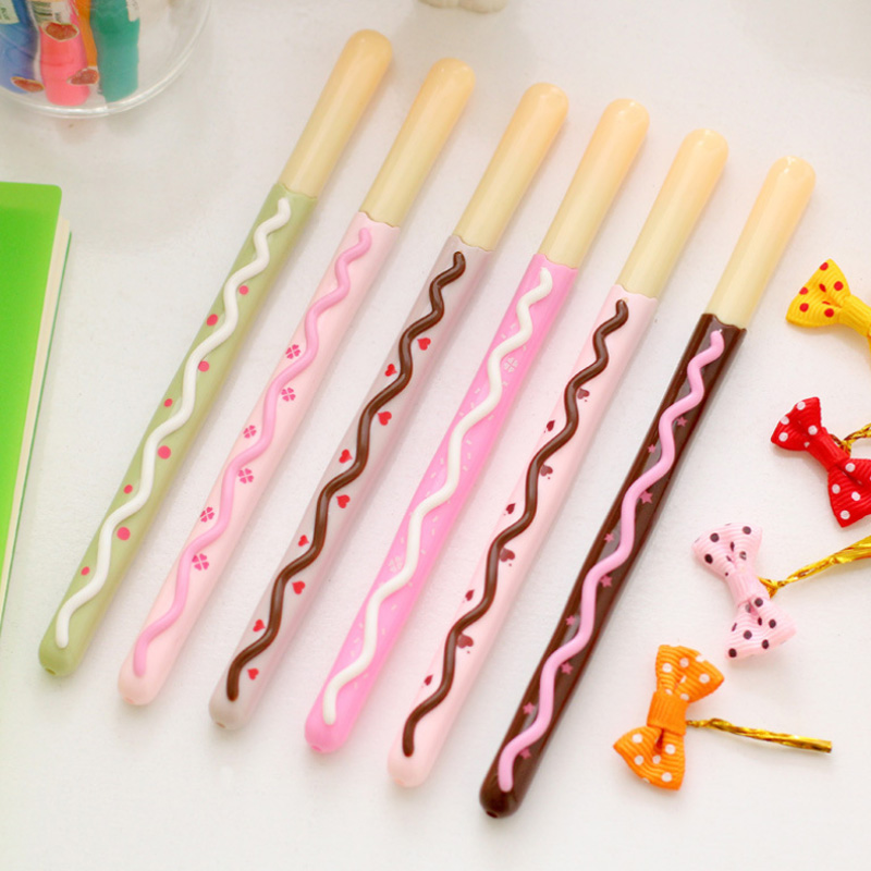 6 pcs/lot kawaii cookies gel pen stationery writing pens canetas material escolar office school supplies papelaria