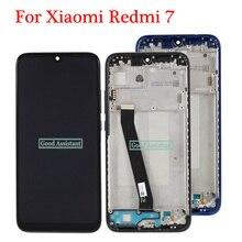 Orijinal 6.3 inç siyah Xiaomi Redmi için 7/Xiaomi Redmi için 7 küresel lcd ekran dokunmatik ekranlı sayısallaştırıcı grup çerçeve ile
