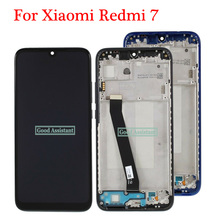 Tela de reposição para xiaomi redmi 7/, display lcd, original, 6.3 polegadas, preto, para xiaomi redmi 7, conjunto digitalizador com moldura