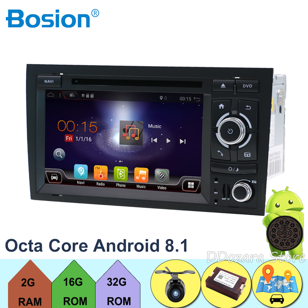 Núcleos octo Para Audi A4 B6 B7 S4 B7 B6 RS4 B7 ASSENTO com Wifi GPS Navi SWC Bluetooth Câmera apoio Canbus 3G/4G, DAB +, OBD, TV, TPMS