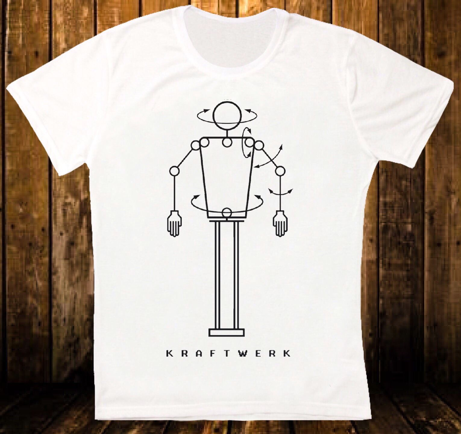 KRAFTWERK ROBOT ELECTRONIC SYNTH POP RETRO VINTAGE HIPSTER UNISEX T SHIRT 869 100 % Cotton T Shirt For Boy Novelty