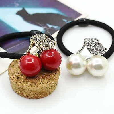 1Pcs Crystal Elastic Hair Ties Band Ropes Ring Ponytail Holder Accessories Women Headwear Pearl Scrunchy Ponytail Hair Rubbers in Women 39 s Hair Accessories from Apparel Accessories