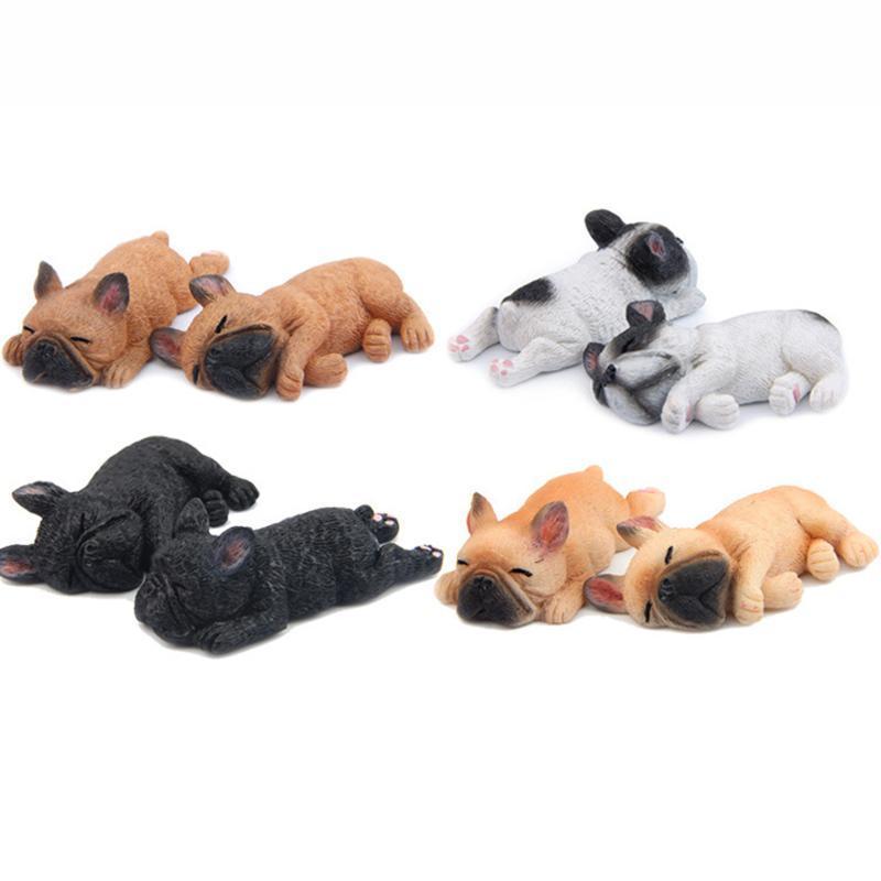 Cute 3D Sleeping Bulldog Cartoon Animal Fridge magnet Kids Early Education Dog Refrigerator Sticker Decals L45