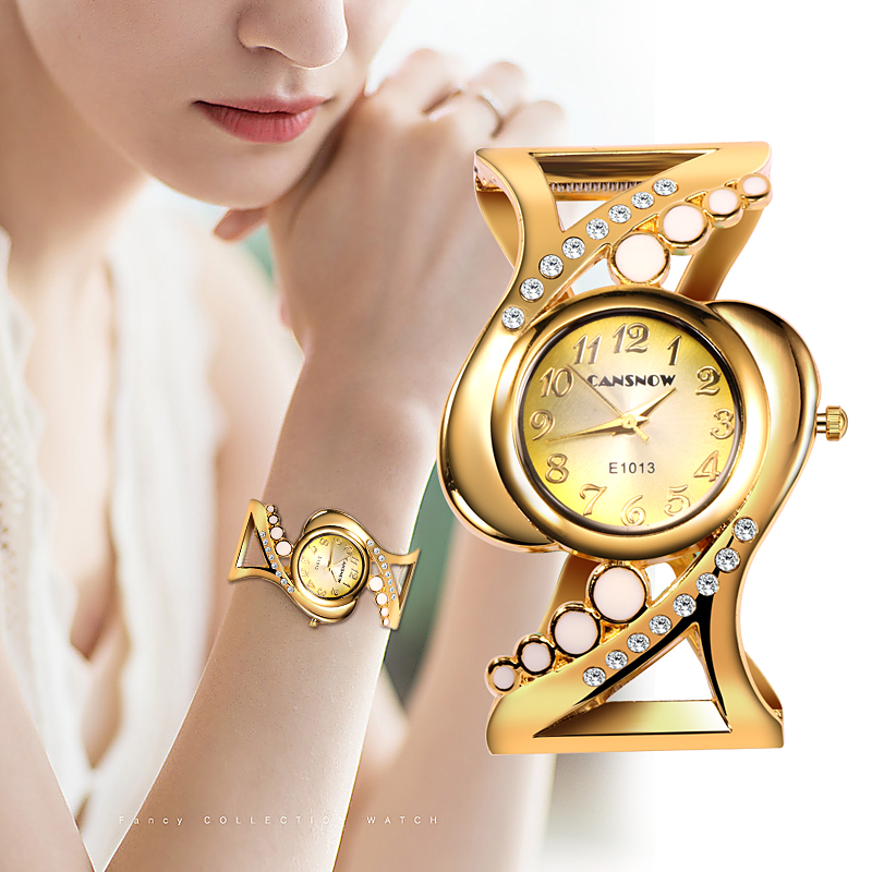 Special Fashion Female Watches Women Bracelet Watch Quartz Crystal Luxury Reloj Rhinestone Eleagnt Mujer Saati Feminino Relogio