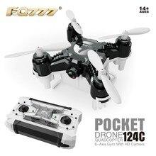 F18355/6 FQ777-124C мини двойной режим с 2.0MP HD Cam с отключаемым контроллер Радиоуправляемый Дрон один Прессы дома 360 градусов опрокидывание RTF
