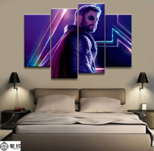 Hot Sales Without Frame 4 Panels Picture Marvel Thor Film Poster Canvas Print Painting Artwork Wall Art Wholesale