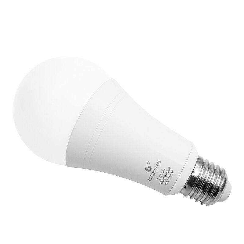 ZIGBEE 3.0 ZLL LED 12 W RGB + CCT ampoule AC100-240V rgb et double blanc e27 e26 variateur LED ampoule dimmable lampe RGBW/RGBWW travail alexa - 3