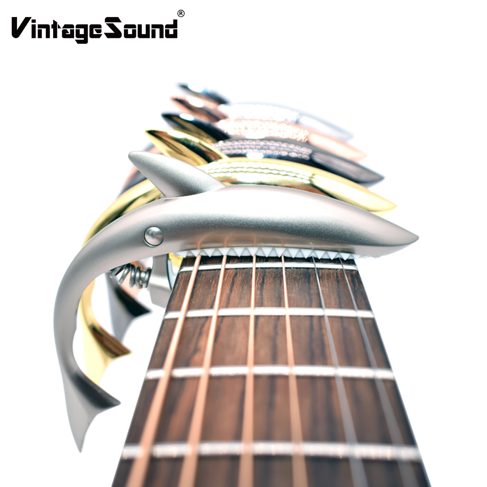 Shark Guitar Capo Zinc Alloy Universal Quick Change Clamp for Acoustic Classic Electric Guitar Musical Instrument Accessories amumu traditional weaving patterns cotton guitar strap for classical acoustic folk guitar guitar belt s113