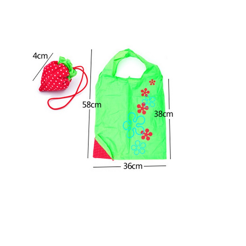 03c47aa8d86 shopping bag strawberry folding shopping bag eco friendly bag Foldable  Strawberry Shopping Bag 200pcs dhl fedex free dropping -in Shopping Bags  from Luggage ...
