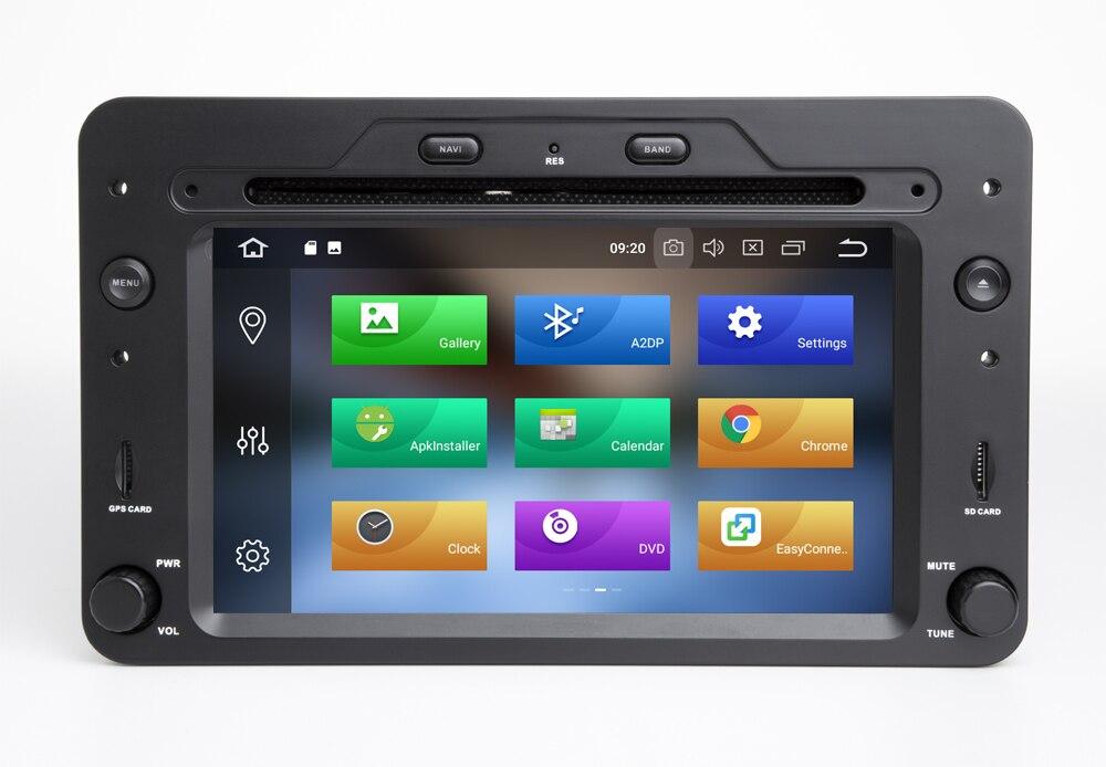 Octa core Android 10.0 Car DVD Player GPS Per Alfa Romeo Spider Alfa Romeo 159 Brera 159 Sportwagon 4GB + 64GB Wifi Radio BT DAB + - 5