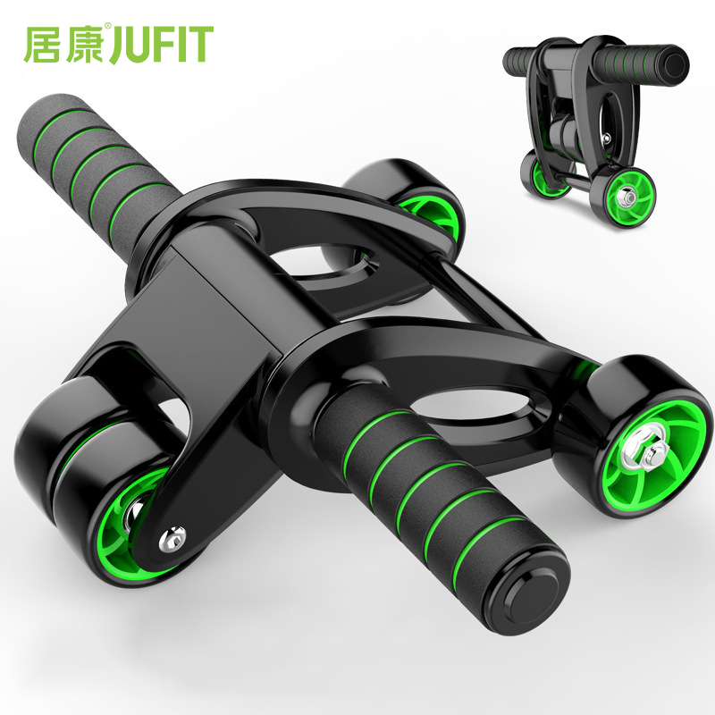 JUFIT pas de bruit roue abdominale Ab rouleau formateur équipement de Fitness Gym exercice hommes musculation