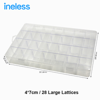 28 Household Multi Tiered Tool Box Water Proof Engineering Plastic Toolbox For Electronic Components SMD SMT
