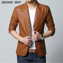 M-4XL ! Autumn males's model trend informal leather-based clothes plus dimension PU motorbike go well with collar leather-based jacket / Free delivery !