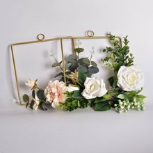Ins explosion Geometric Wreath Wall Hanging Decoration Floral Hoop For Wedding green plant hanging ring