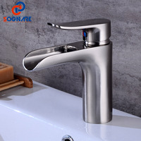 SOGNARE Supper High Quality Tall Sink Faucet Bathroom Basin Faucet Waterfall Basin Sink Faucet Basin Mixer