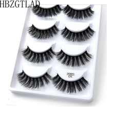 250 pairs/50 box 100% Echte Nerts Nep Wimpers 3D Natuurlijke Valse Wimpers 3d Mink Wimpers Soft Wimper Verlenging make up Kit Cilios