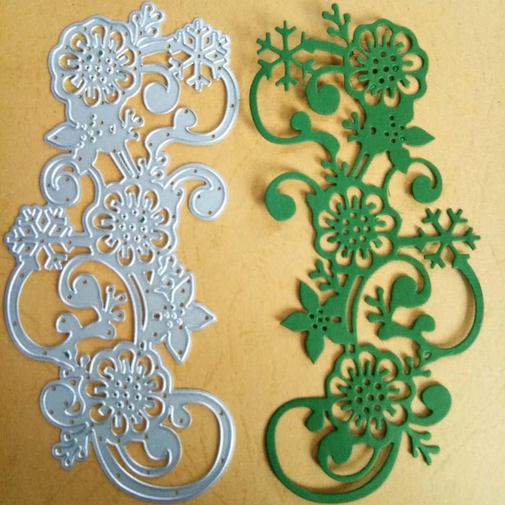 Flower Vine Cutting Die DIY Embossing Stencil Templates Paper Scrapbook Crafts