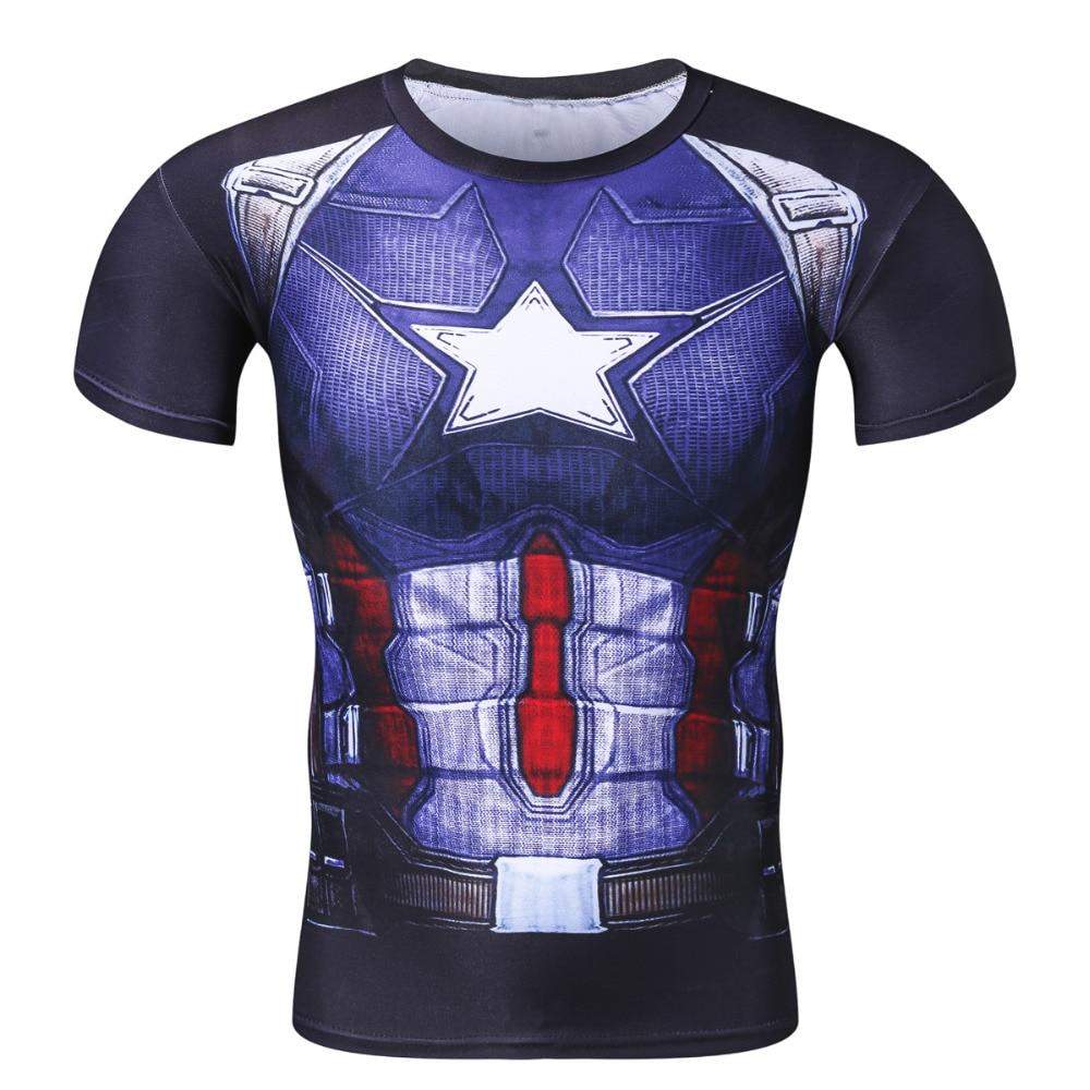 Compre Nova Camisa De Compressão 3D De Fitness Homens Superhero ... b8097580676ae